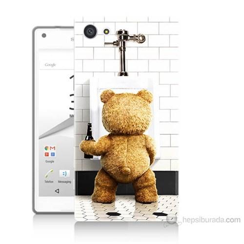 Teknomeg Sony Xperia Z5 Mini Tedy Bear Baskılı Silikon Kılıf