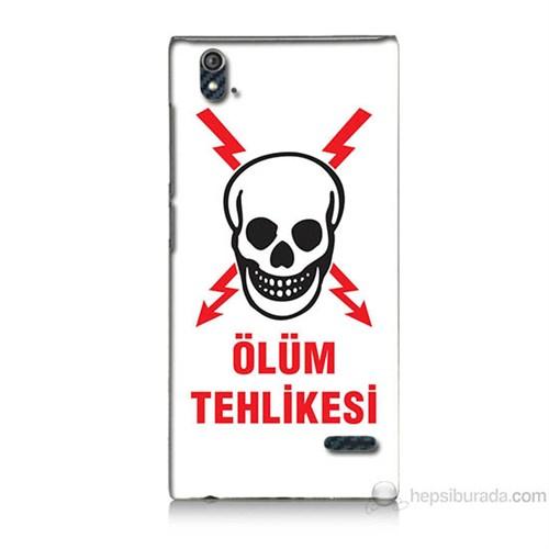 Teknomeg Turkcell T50 Ölüm Tehlikesi Baskılı Silikon Kılıf