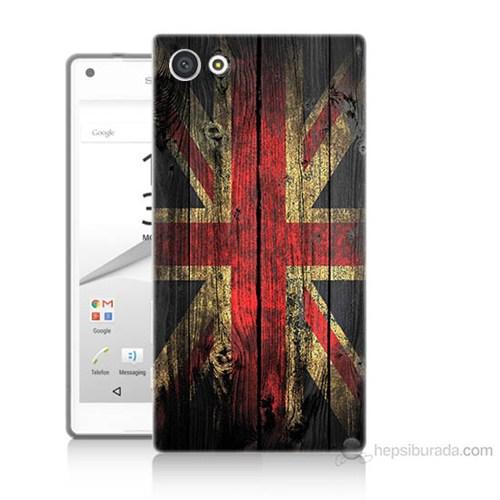 Teknomeg Sony Xperia Z5 Mini İngiliz Bayrağı Baskılı Silikon Kılıf