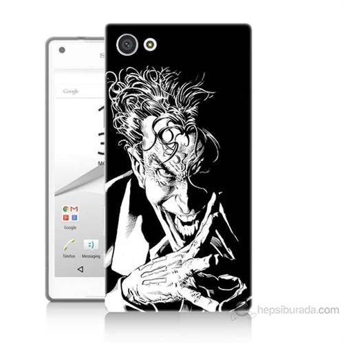 Teknomeg Sony Xperia Z5 Mini Gülen Joker Baskılı Silikon Kılıf