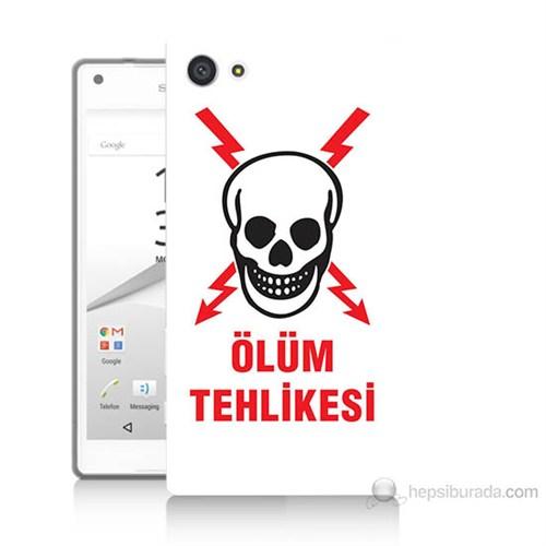 Teknomeg Sony Xperia Z5 Mini Ölüm Tehlikesi Baskılı Silikon Kılıf