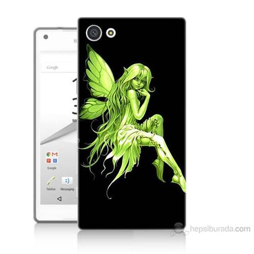 Teknomeg Sony Xperia Z5 Mini Peri Kızı Baskılı Silikon Kılıf