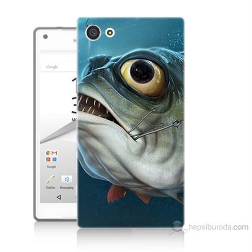 Teknomeg Sony Xperia Z5 Mini Balık Baskılı Silikon Kılıf