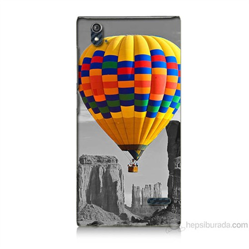 Teknomeg Turkcell T50 Renkli Uçan Balon Baskılı Silikon Kılıf