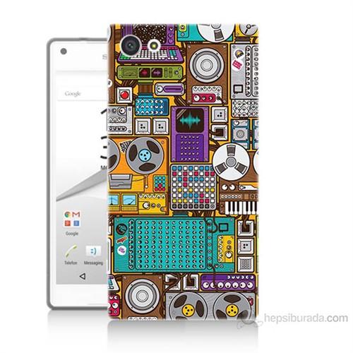 Teknomeg Sony Xperia Z5 Mini Teknoloji Baskılı Silikon Kılıf