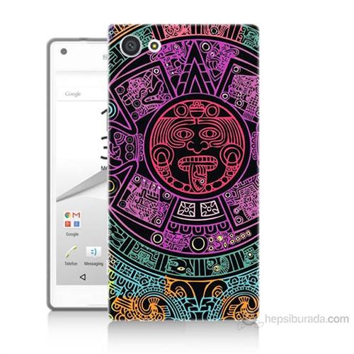 Teknomeg Sony Xperia Z5 Mini Mayalar Baskılı Silikon Kılıf