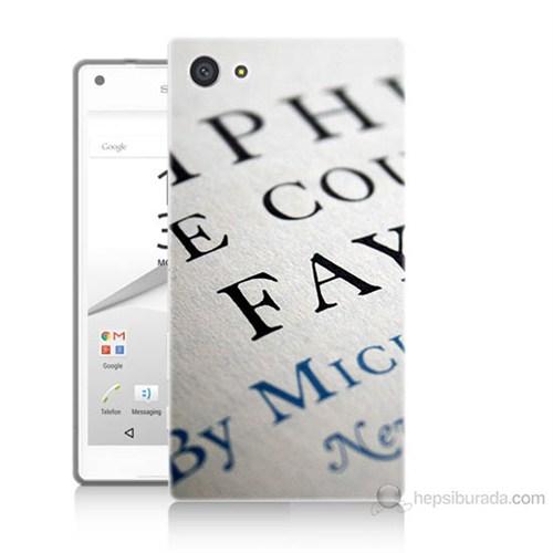 Teknomeg Sony Xperia Z5 Mini Yazılar Baskılı Silikon Kılıf