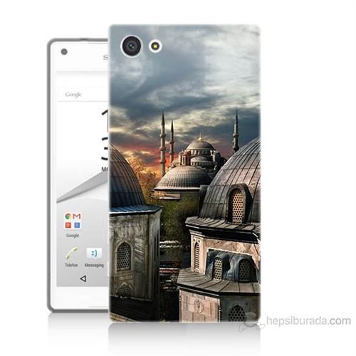 Teknomeg Sony Xperia Z5 Mini Cami Baskılı Silikon Kılıf