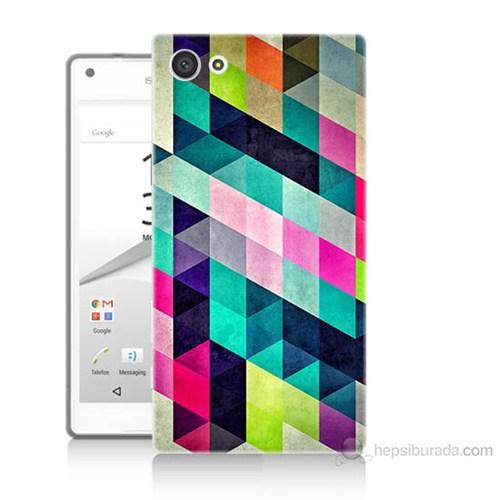 Teknomeg Sony Xperia Z5 Mini Mozaikler Baskılı Silikon Kılıf