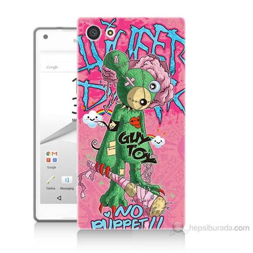 Teknomeg Sony Xperia Z5 Mini Psikopat Ayıcık Baskılı Silikon Kılıf
