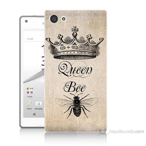 Teknomeg Sony Xperia Z5 Mini Queen Bee Baskılı Silikon Kılıf