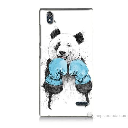 Teknomeg Turkcell T50 Boksör Panda Baskılı Silikon Kılıf