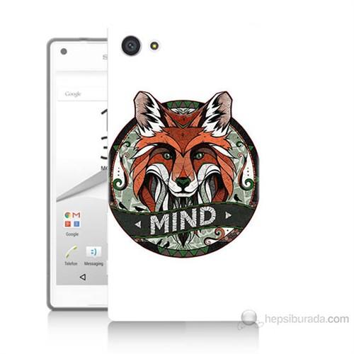Teknomeg Sony Xperia Z5 Mini Zeki Tilki Baskılı Silikon Kılıf