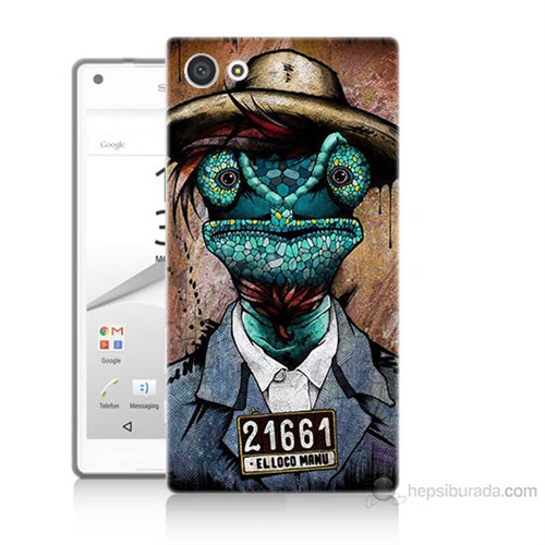 Teknomeg Sony Xperia Z5 Mini İguana Adam Baskılı Silikon Kılıf