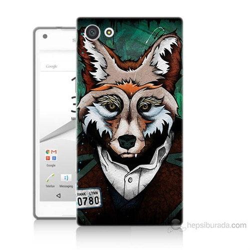 Teknomeg Sony Xperia Z5 Mini Bad Wolf Baskılı Silikon Kılıf