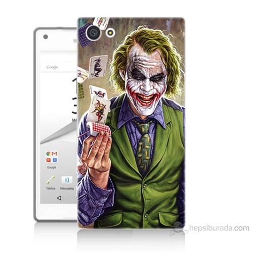 Teknomeg Sony Xperia Z5 Mini Kartlı Joker Baskılı Silikon Kılıf
