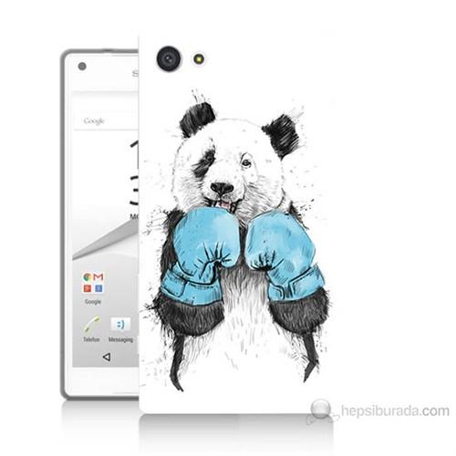 Teknomeg Sony Xperia Z5 Mini Boksör Panda Baskılı Silikon Kılıf
