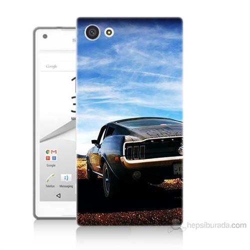 Teknomeg Sony Xperia Z5 Mini Mustang Baskılı Silikon Kılıf