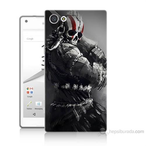 Teknomeg Sony Xperia Z5 Mini Tribal Warrior Baskılı Silikon Kılıf