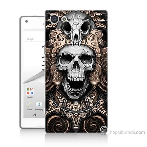 Teknomeg Sony Xperia Z5 Mini Kafatası Krallığı Baskılı Silikon Kılıf