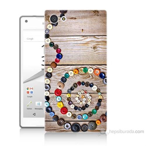Teknomeg Sony Xperia Z5 Mini Düğmeler Baskılı Silikon Kılıf