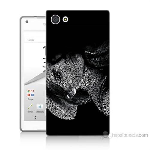 Teknomeg Sony Xperia Z5 Mini Yazılı Kadın Baskılı Silikon Kılıf
