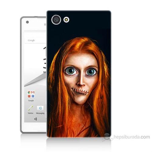 Teknomeg Sony Xperia Z5 Mini Zombie Kız Baskılı Silikon Kılıf