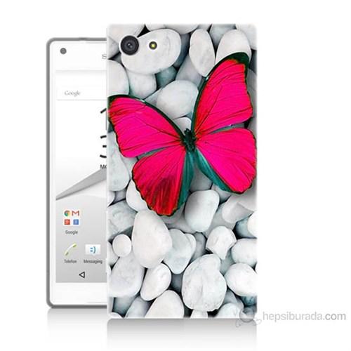 Teknomeg Sony Xperia Z5 Premium Kelebek Baskılı Silikon Kılıf