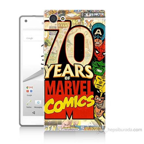 Teknomeg Sony Xperia Z5 Premium Marvel Karakterleri Baskılı Silikon Kılıf