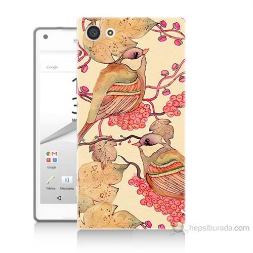 Teknomeg Sony Xperia Z5 Premium Kuşlar Baskılı Silikon Kılıf
