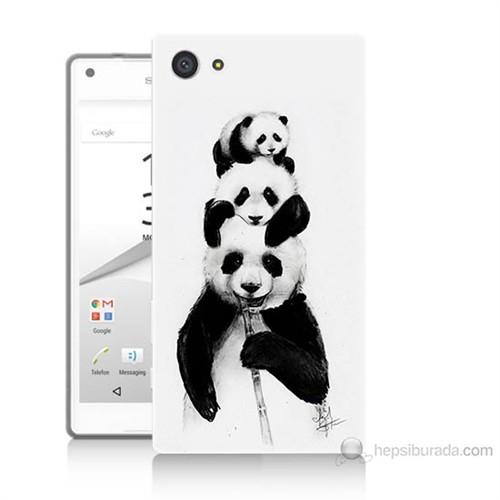 Teknomeg Sony Xperia Z5 Premium Panda Ailesi Baskılı Silikon Kılıf