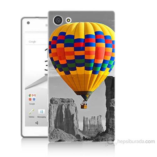 Teknomeg Sony Xperia Z5 Premium Renkli Uçan Balon Baskılı Silikon Kılıf