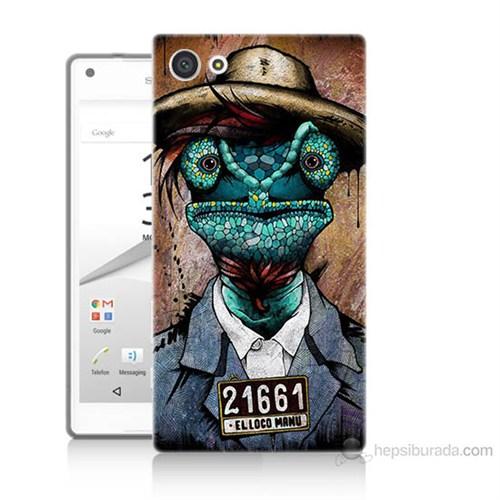 Teknomeg Sony Xperia Z5 Premium İguana Adam Baskılı Silikon Kılıf