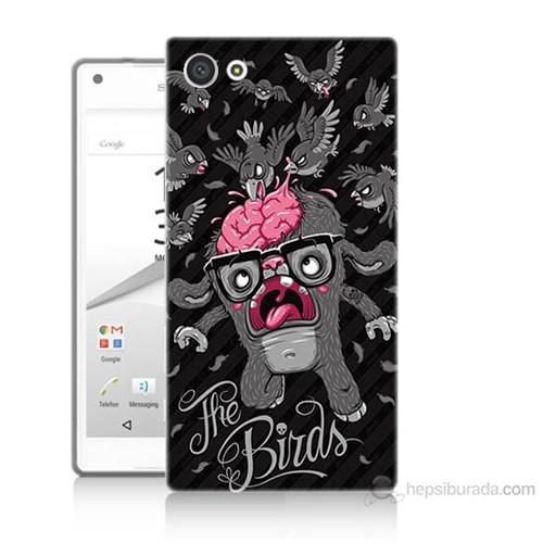 Teknomeg Sony Xperia Z5 Premium The Birds Baskılı Silikon Kılıf