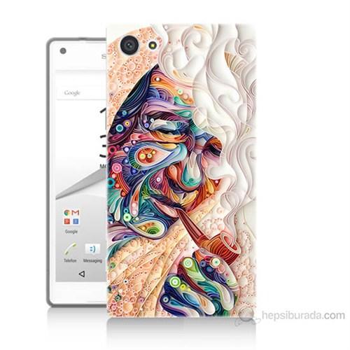 Teknomeg Sony Xperia Z5 Premium Kağıt Sanatı Baskılı Silikon Kılıf