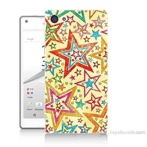 Teknomeg Sony Xperia Z5 Premium Yıldızlar Baskılı Silikon Kılıf