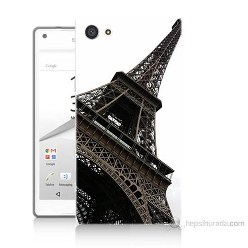 Teknomeg Sony Xperia Z5 Premium Eyfel Kulesi Baskılı Silikon Kılıf