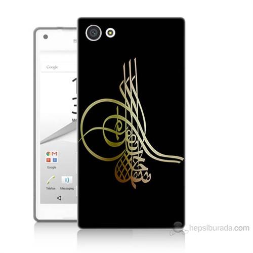 Teknomeg Sony Xperia Z5 Premium Tuğra Osmanlı Baskılı Silikon Kılıf
