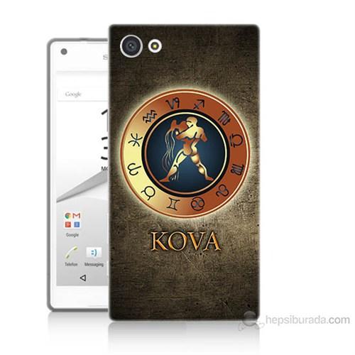 Teknomeg Sony Xperia Z5 Premium Kova Burcu Baskılı Silikon Kılıf