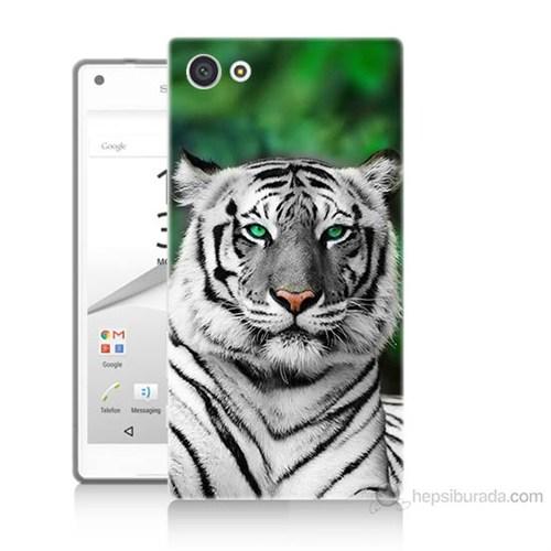 Teknomeg Sony Xperia Z5 Premium Beyaz Kaplan Baskılı Silikon Kılıf