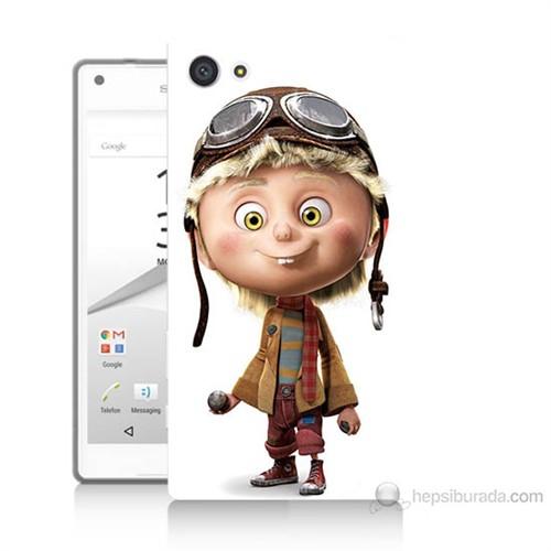 Teknomeg Sony Xperia Z5 Premium Çizgi Karakter Baskılı Silikon Kılıf