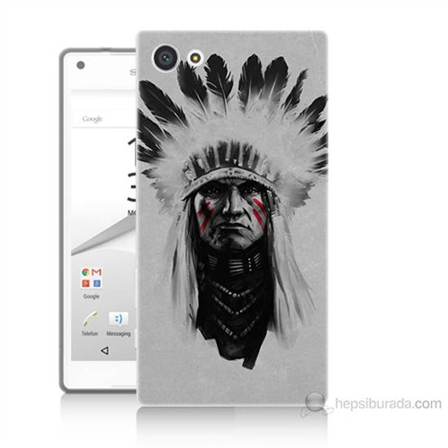 Teknomeg Sony Xperia Z5 Premium Geronimo Baskılı Silikon Kılıf