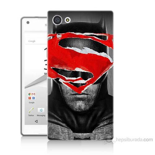 Teknomeg Sony Xperia Z5 Premium Batman Vs Superman Baskılı Silikon Kılıf