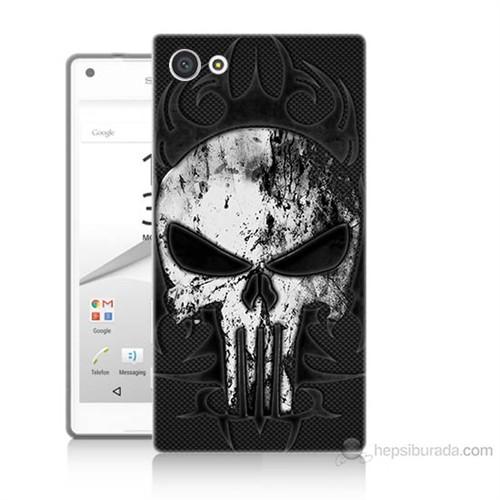 Teknomeg Sony Xperia Z5 Premium Punnisher Kurukafa Baskılı Silikon Kılıf