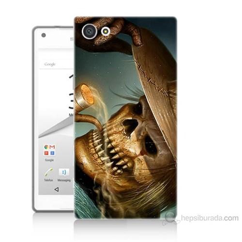Teknomeg Sony Xperia Z5 Premium Pipolu Kurukafa Baskılı Silikon Kılıf