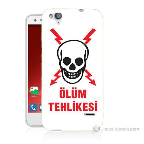 Teknomeg Turkcell T60 Ölüm Tehlikesi Baskılı Silikon Kılıf