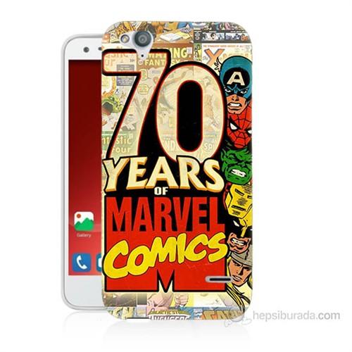 Teknomeg Turkcell T60 Marvel Karakterleri Baskılı Silikon Kılıf