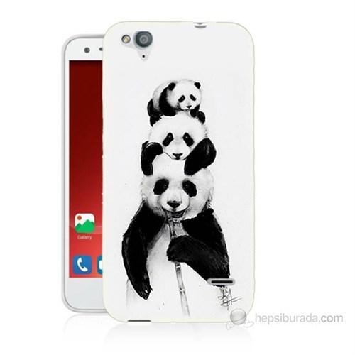 Teknomeg Turkcell T60 Panda Ailesi Baskılı Silikon Kılıf