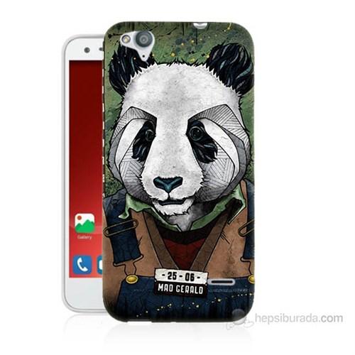 Teknomeg Turkcell T60 İşçi Panda Baskılı Silikon Kılıf