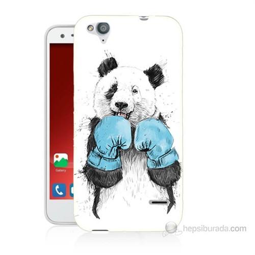 Teknomeg Turkcell T60 Boksör Panda Baskılı Silikon Kılıf